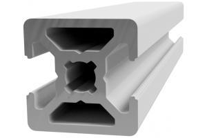 Hliníkový profil 20x20 s 2x drážkou 6 mm a 2x zakrytou drážkou; 993422