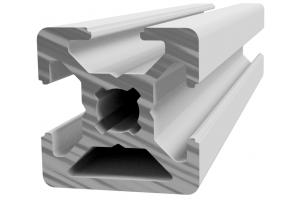 Hliníkový profil 20x20 s 3x drážkou 6 mm  a 1x zakrytou drážkou; 992889