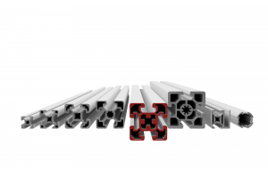 Stavebnicový profil s drážkou 10 mm v rozměrové řadě 50mm