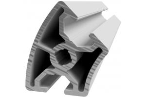 Hliníkový úhlový profil 30x45° s drážkou 8 mm a vnějším radiusem; 993011