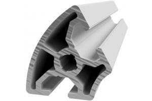 Hliníkový úhlový profil 30x60° s drážkou 8 mm a vnějším radiusem; 993012