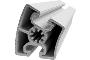 Hliníkový, konstrukční úhlový profil 45x30° s drážkou a vnějším radiusem; 993013