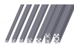 Hliníkový, konstrukční profil s drážkou 5, 6, 8 mm v rozměrové řadě 20, 30, 40 mm