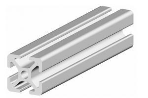 Hliníkový profil 20x20 s drážkou 5 mm, délka 3 m