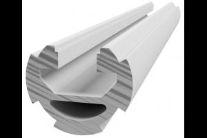 Hliníková, konstrukční trubka ES s drážkou D28L Nut 10; 996192