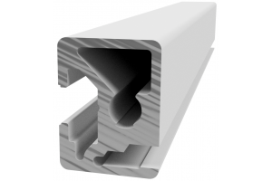Hliníkový, konstrukční, policový profil RP 22,5x30 s drážkou pro vsazení plechu; 992493