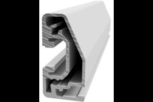 Hliníkový, konstrukční, policový profil RP 22,5x45 s drážkou pro vsazení plechu; 992411