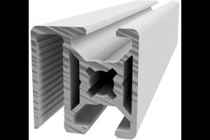 Hliníkový, konstrukční profil 30x30 WG40 pro oplocení s drážkou pro žebérkové pletivo; 992972