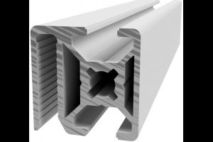 Hliníkový, konstrukční profil 30x30 WG30 pro oplocení s drážkou pro žebérkové pletivo; 992970
