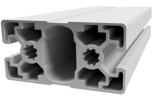 Hliníkový, konstrukční profil 45x90L 2N s 2x drážkou a 4x zakrytou drážkou; 993644