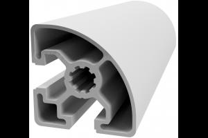 Hliníkový, konstrukční profil 45x45L R s drážkou a vnějším rádiusem; 992897