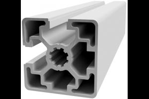 Hliníkový, konstrukční profil 45x45L 2NVS s 2x drážkou a 2x zakrytou drážkou přes roh; 992402