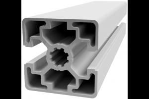 Hliníkový, konstrukční profil 45x45L 2N s 2x drážkou a 2x zakrytou drážkou; 992403