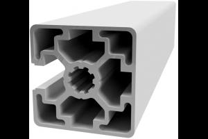 Hliníkový, konstrukční profil 45x45L 1N s 1x drážkou a 3x zakrytou drážkou; 992401