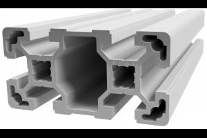 Hliníkový, konstrukční profil 40x80L s drážkou; 993130