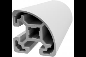 Hliníkový, konstrukční profil 40x40L R s drážkou a vnějším rádiusem; 993184