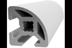 Hliníkový profil 20x20 s drážkou 6 mm  a vnějším rádiusem; 992890