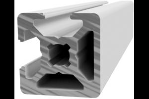 Hliníkový profil 20x20 s 2x drážkou 6 mm přes roh a 2x zakrytou drážkou; 992924