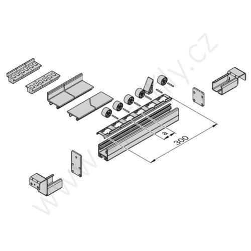 Hliníkový U - profil, ESD, 3842995027, 40x45, Řezaný profil
