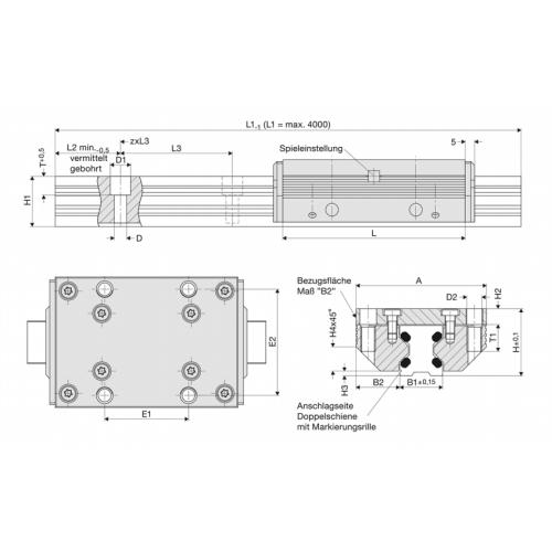 Kolejnice 63183N FDC 15, Řezaný profil