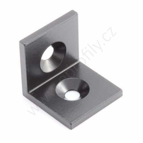 Úhelník Ocel, černý , 40x40, Balení (100ks)