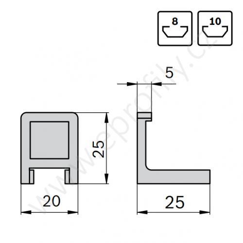 Variofix aretační klip, 3842184738, , (1ks)
