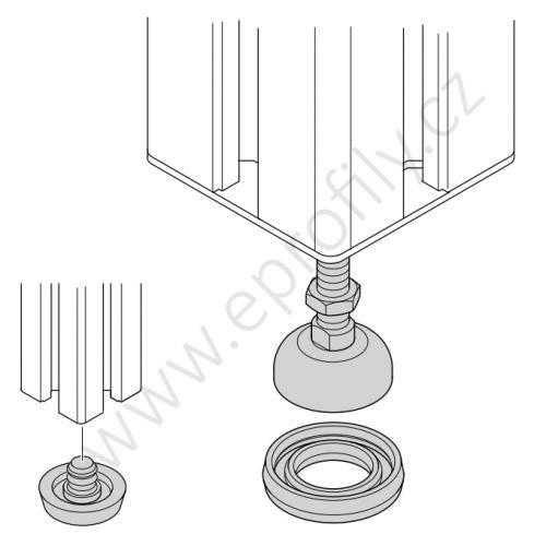 Vyrovnávací noha ocelová, pozinkovaná, ESD, 3842511893, D58 M12x85, (1ks)