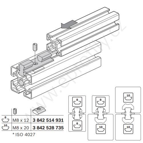 Multifunkční, oboustranný kluzák, 3842513517, N8+N10, (1ks)
