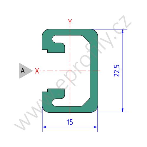 Hliníkový, konstrukční profil, 3842513576, 15x22,5, Balení (10ks)