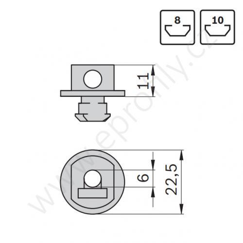 Upínací pouzdro pletiva, 3842515244, N8, N10, (1ks)