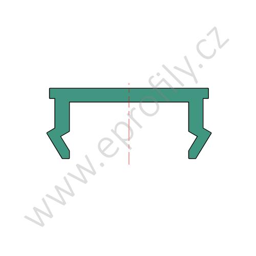 Krytka drážky profilu plast, 3842518375, N8 šedá RAL 7035, (1ks)