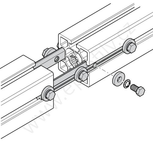 Profilová spojka do drážky, 3842518427, N8-50, (1ks)