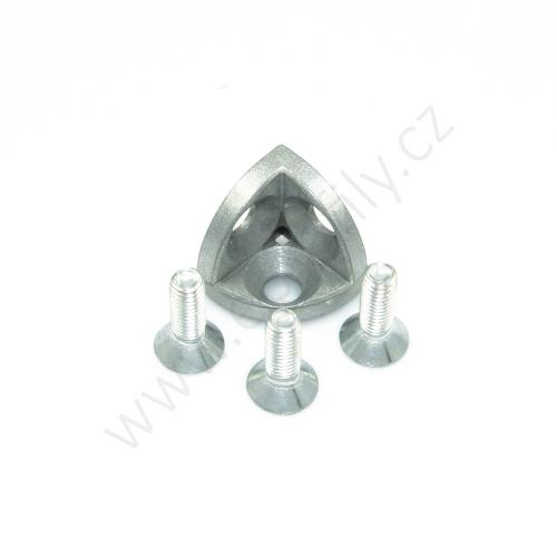 3D rohová spojka, ESD, 3842519319, R30x30, (1ks)