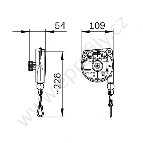 Balancer, délka lanka 1600 mm, 3842520054, 1600 mm; 1-2 kg, (1ks)