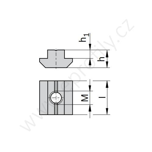 Kámen těžký do drážky - nerez, ESD, 3842523140, N6 M4, (1ks)