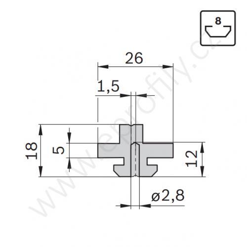 Kluzák odstředěný, 3842523211, N8, (1ks)