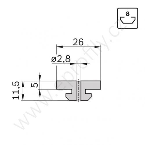 Kluzák plochý, 3842523212, N8, (1ks)
