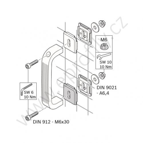 Upínací prvek EcoSafe, 3842523308, WG30/WG40, Balení (20ks)