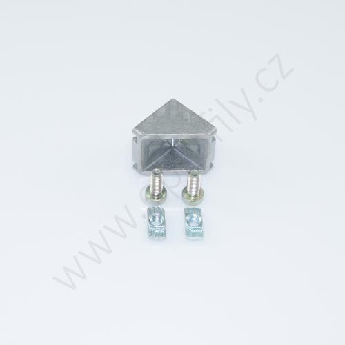 Spojovací úhelník 90° vnější - SET, ESD, 3842523528, 30x30; N8/N8, (1ks)