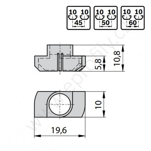 Izolační krytka na matici T N8 -> N10, 3842524012, N10, (1ks)