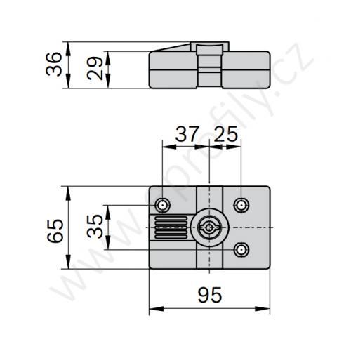 Zámek dveří, 3842525823, 30x30; 45x45, (1ks)