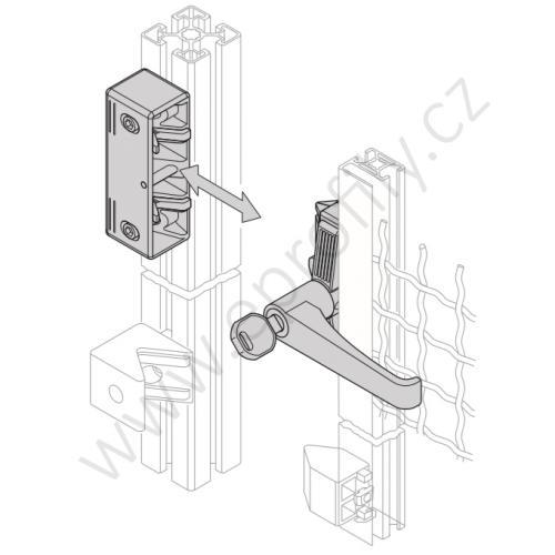 Zámek pro posuvné dveře EcoSafe, 3842525947, jednotné klíče (univerzální), (1ks)