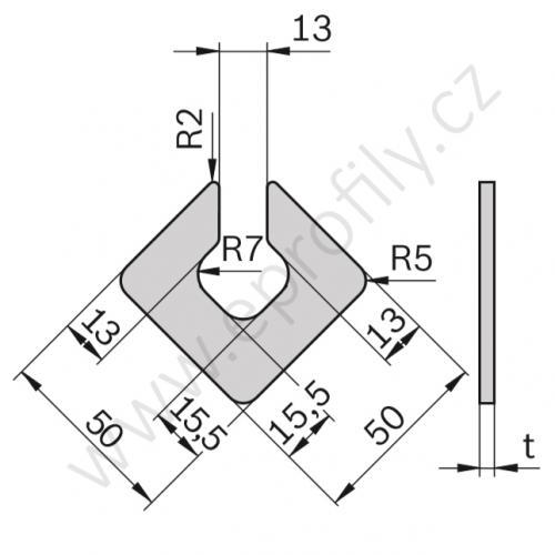 Vyrovnávací podložka pro patky, 3842528189, t1, (1ks)
