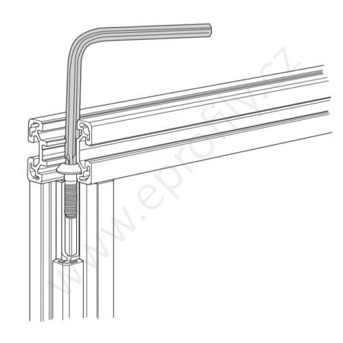Ofsetový klíč Torx - T25, 3842528590, L=100 mm, (1ks)