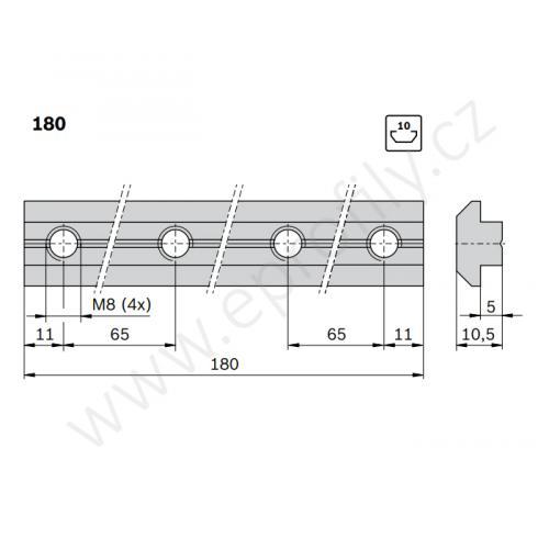 Profilová spojka do drážky, 3842528746, N10-180, (1ks)