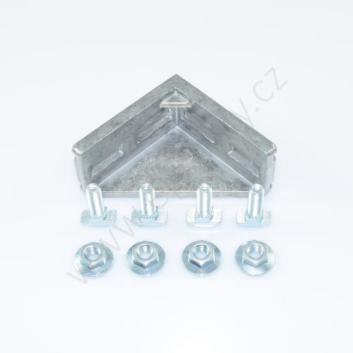 Spojovací úhelník 90° vnější - SET, ESD, 3842529386, 40x80; N10/N10, (1ks)