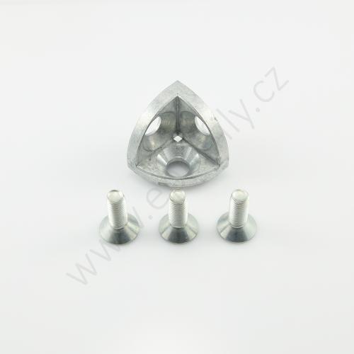3D rohová spojka, ESD, 3842529404, R40x40, (1ks)