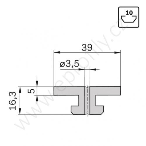 Kluzák plochý, 3842530329, N10, (1ks)