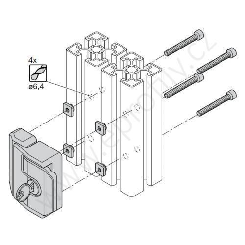 Zámek dveří, 3842530353, rozdílné klíče (unikátní), (1ks)
