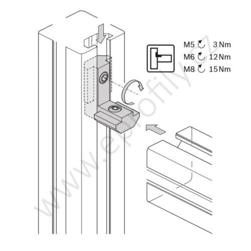 Vnitřní úhelník do drážky R, ESD, 3842535576, N8/N10, (1ks)